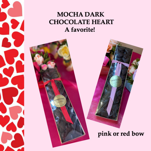 Mocha dark chocolate heart