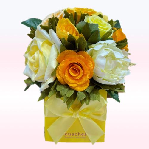 ROSE rose jaune  18 pc