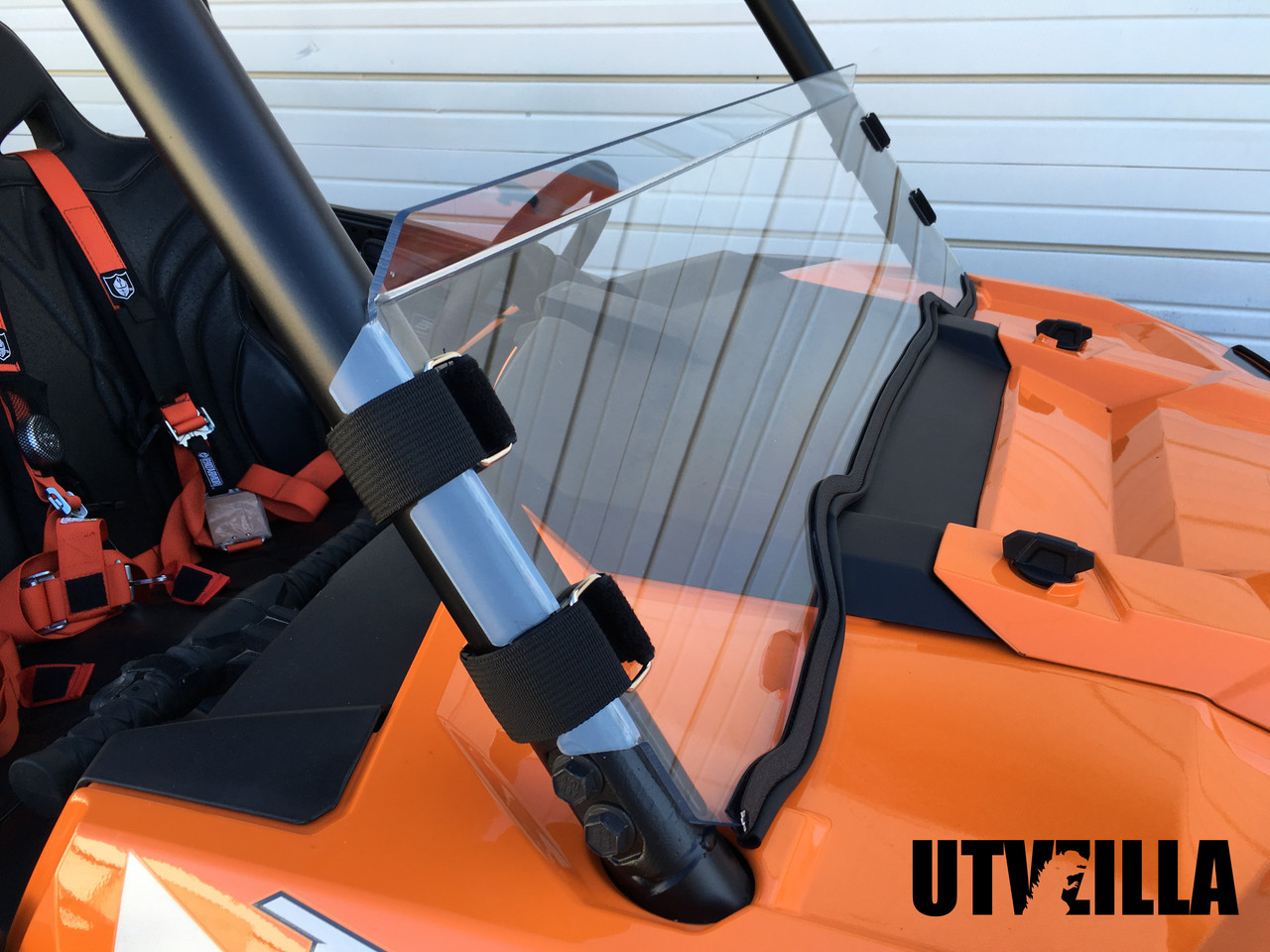 Polycarbonate Half Windshield with Quick Straps for RZR 900, 1000, TURBO  (upgrade options)