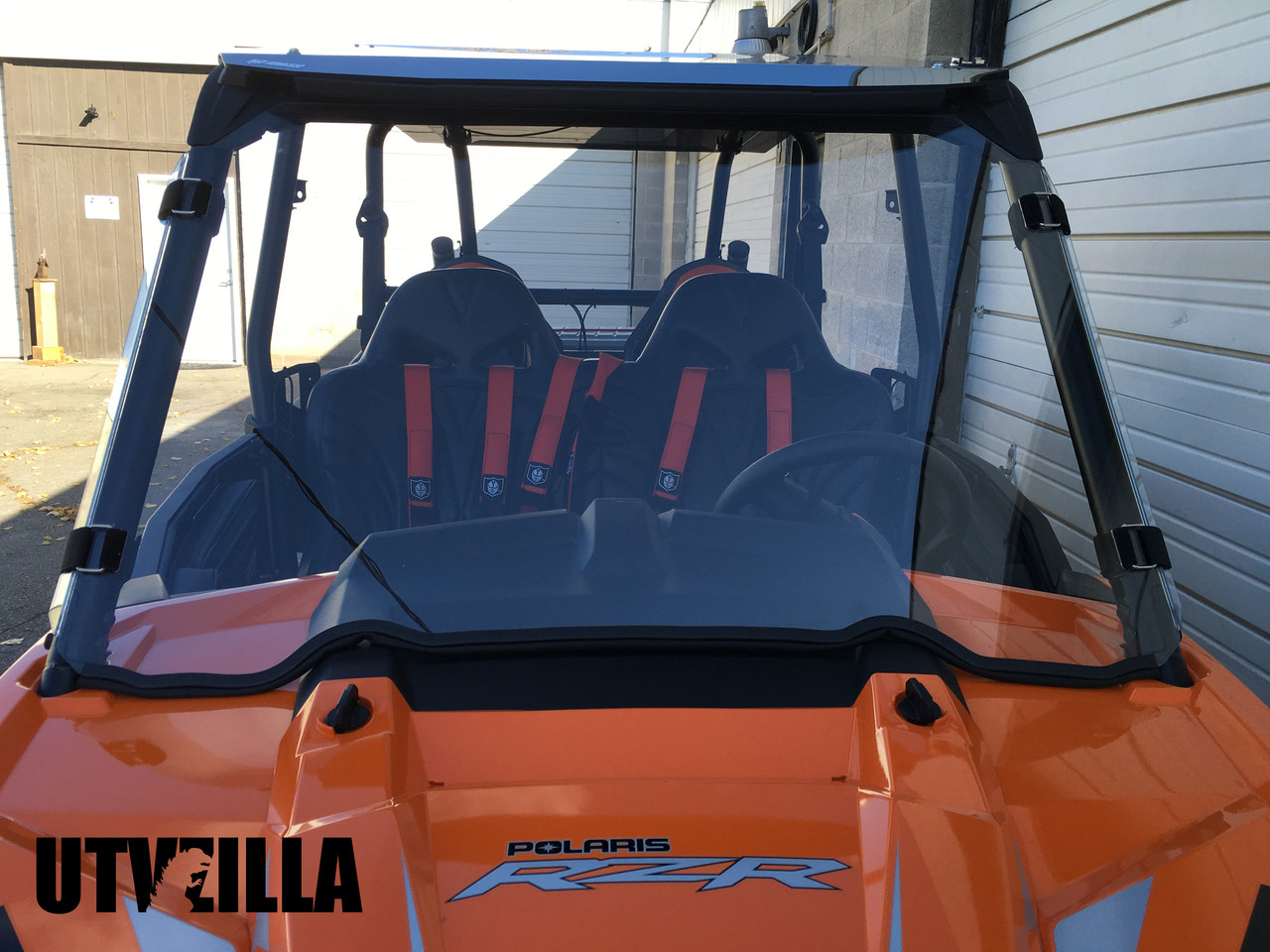 Full Polycarbonate Windshield with Quick Straps for RZR 900, 1000, TURBO  (upgrade options)