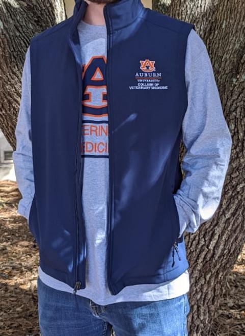 Men's Navy Softshell Vest