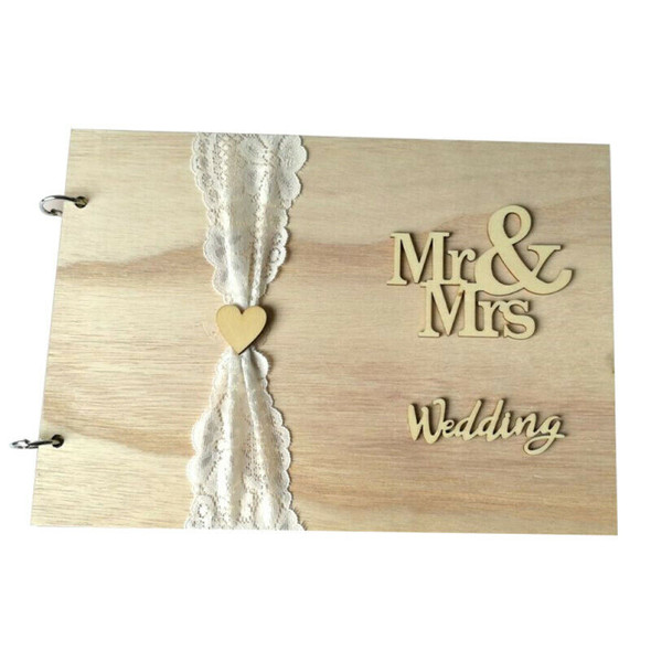 Guest Book Wooden Tree Personalised Guest Book Wood Wedding Decoration XKM