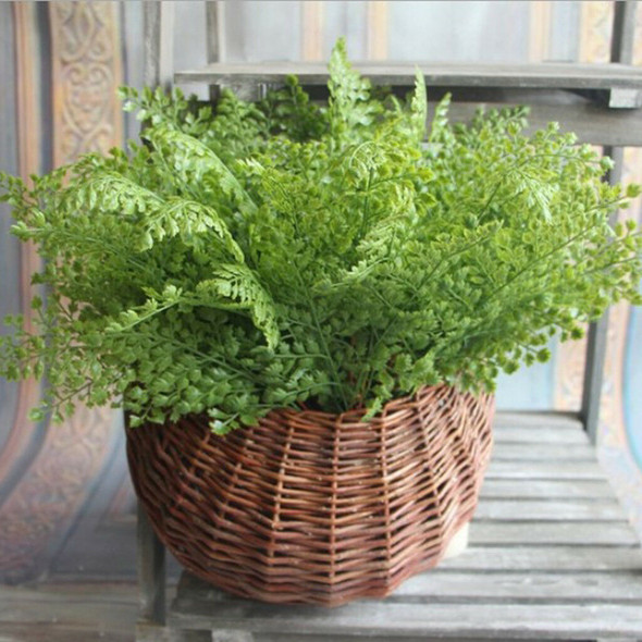 Artificial Plastic Fern Leaves 7 Branches Plant Flower for Home Decor 45cm