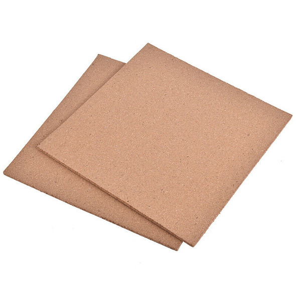 Cork Noticeboard Memo Pin Board Pad Frameless 300x300x6mm Fixings Included