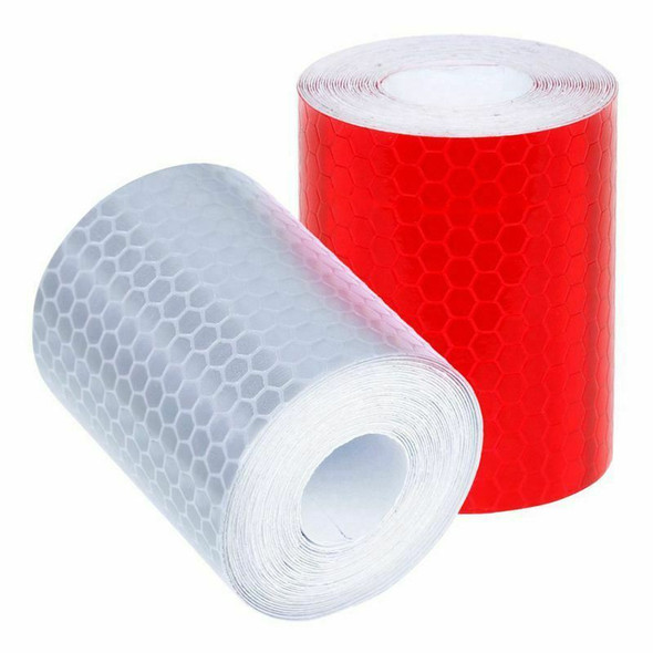 2 pcs 50mm × 3 meter Adhesive Tape Warning Tape Reflector Tape Security Mar S8W3