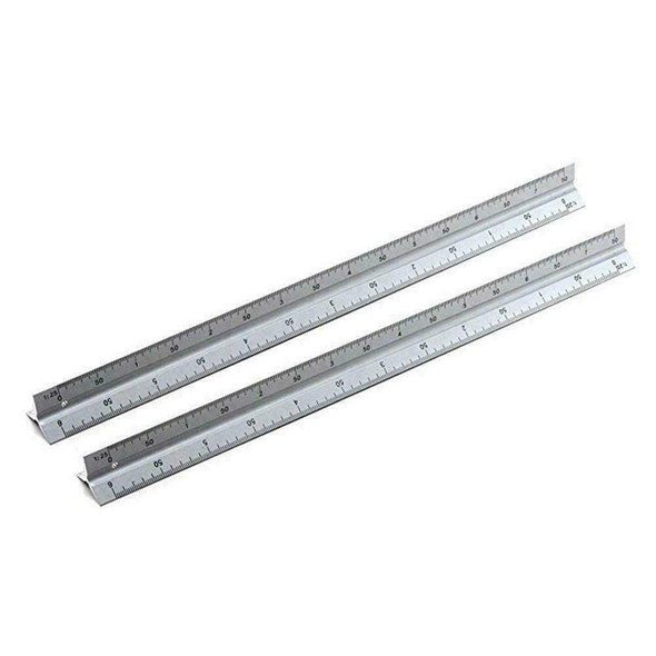 300mm Scale Ruler Set Small Large Measure Rule Metal Stainless Steel A1T8