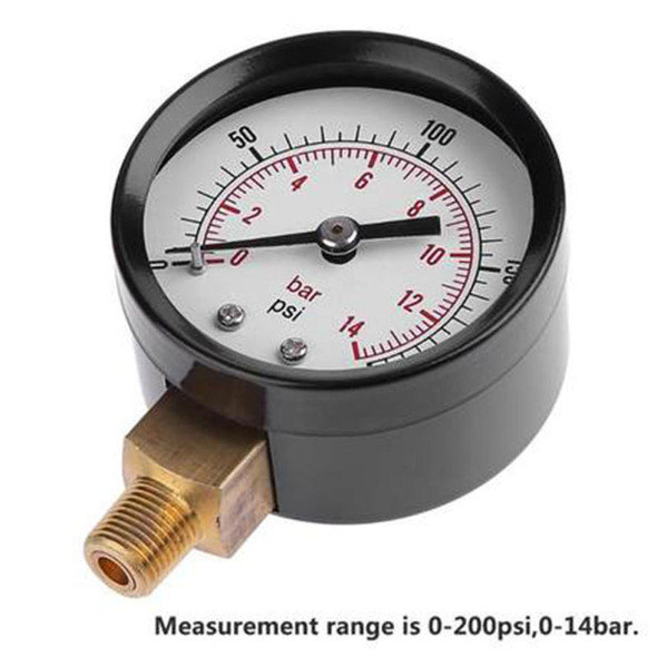 0-200 PSI Air Gauge For Air Tank Accessory Easy To Read Two Color Gauge  PIP