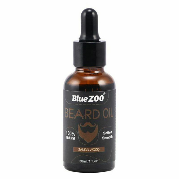 BlueZOO 100% Natural Beard Oil for Men,Leave In Conditioner and Softener fo V6C2