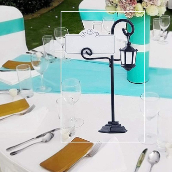 5 PCS Streetlight Shape Wedding Party Reception Place Card Holder Number NamF6T4