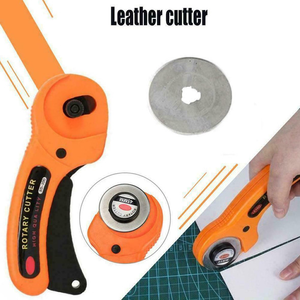 45MM Rotary With Blades Sewing Quilters Fabric Craft Cutting Tool Le U0A2