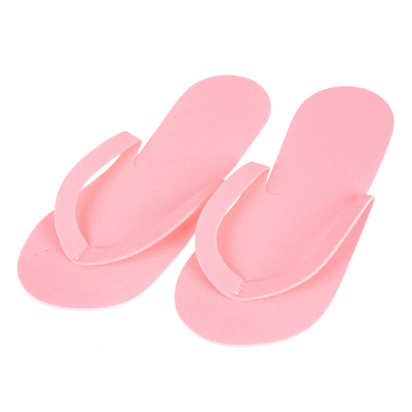 12 Pairs Disposable Flip Flops Foam Pedicure Tanning Spa Slippers Supplies FT