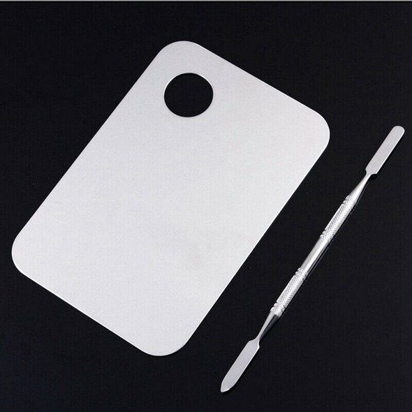 High Quality Pro Stainless Steel Cosmetic Makeup Palette Spatula Tool Q4H9