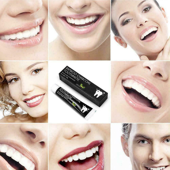 105g Bamboo Charcoal Teeth Whitening Toothpaste Black Bad Breath Removes St U9A6