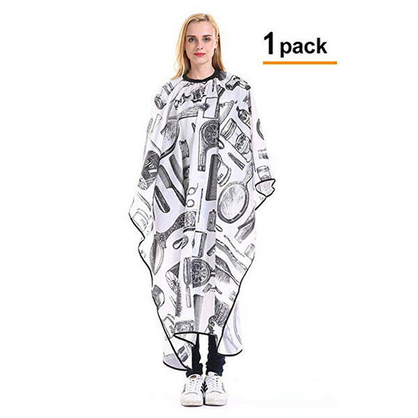 1 Pack Profession Barber Cape - Haircut Gown Salon Styling Bib Kit Hairdres G5Q8
