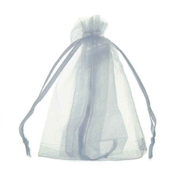 100Pcs bags / pouches made of Organza cord sliding clamp - for wedding, jew T5C2