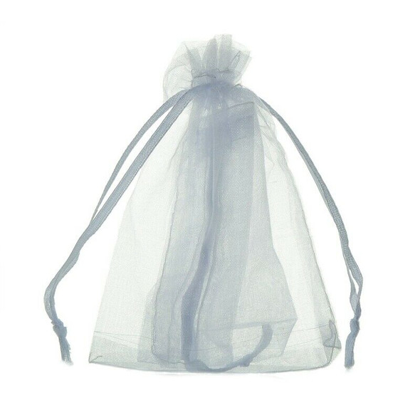 100Pcs bags / pouches made of Organza cord sliding clamp - for wedding, jew X9H1