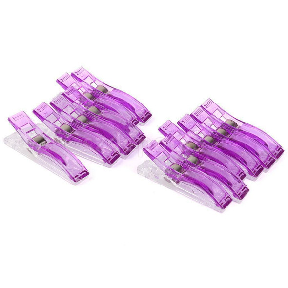 Popular 24 Jumbo Wonder Clips Fabric Clamps for Craft Sewing Quilting Purple TE
