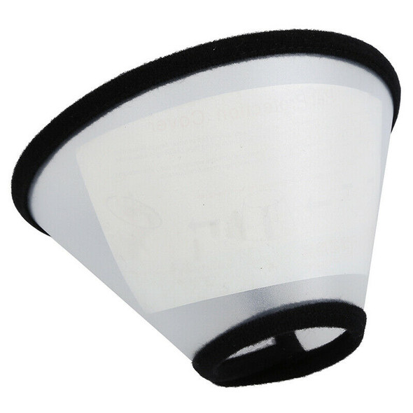 5X(Elizabethan Dog Cat Pet Wound Healing Cone E- Collar White with Black I2D6)