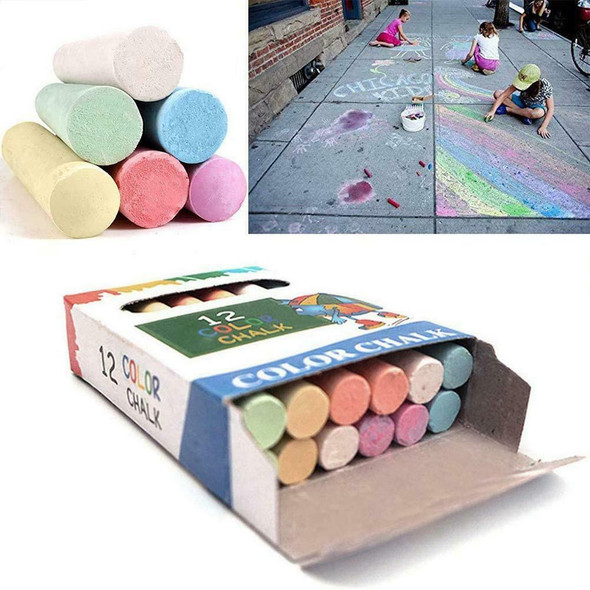 12 PCS/Lot Chalk Pens Drawing Chalks For School Blackboard 6 Colors Stationary