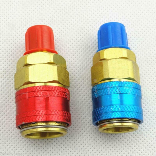 Pair Car Automotive AC R134A System Quick Couplers Connectors Adapter 1/4 mkl