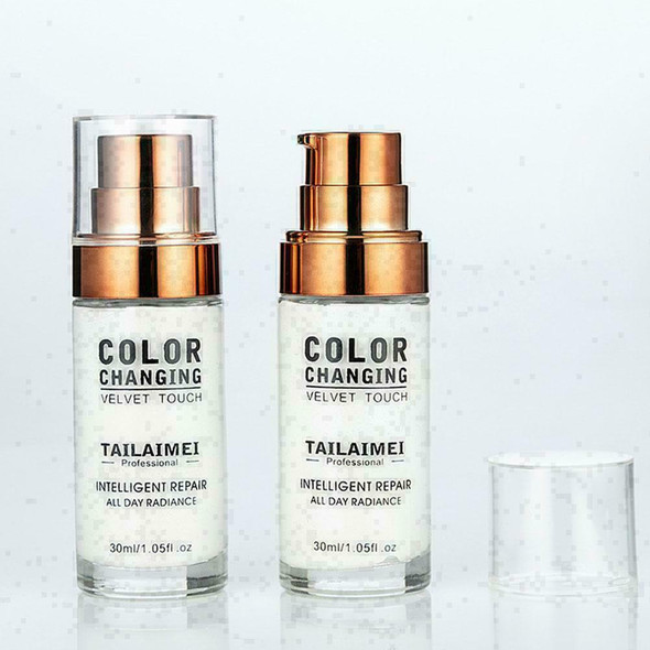Colour Changing Foundation Makeup Base Nude Face Liquid Cover Concealer 30m O8L9