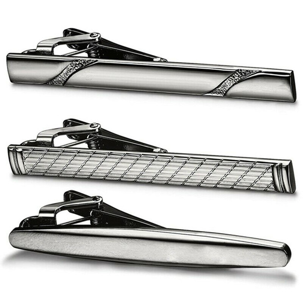 3 Pcs Tie Clips for Men Tie Bar Clip Set for Regular Ties Necktie Wedding BuV6P2