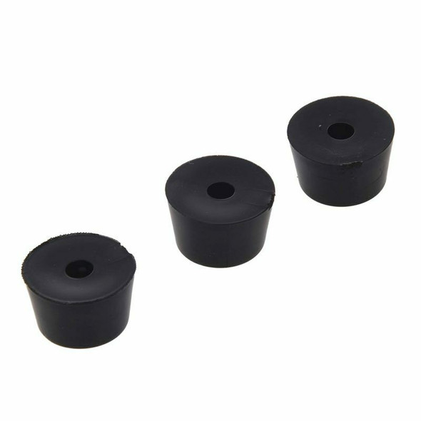 60 Pcs Universal TapeRed Black Rubber Feet Bumper Pad Washer 15mmx10mm P6J2