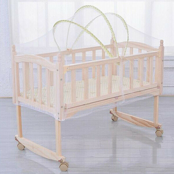 1 x Baby Cradle Bed Mosquito Nets Summer Baby Safe Arched Mosquitos Net, Ra K3O8