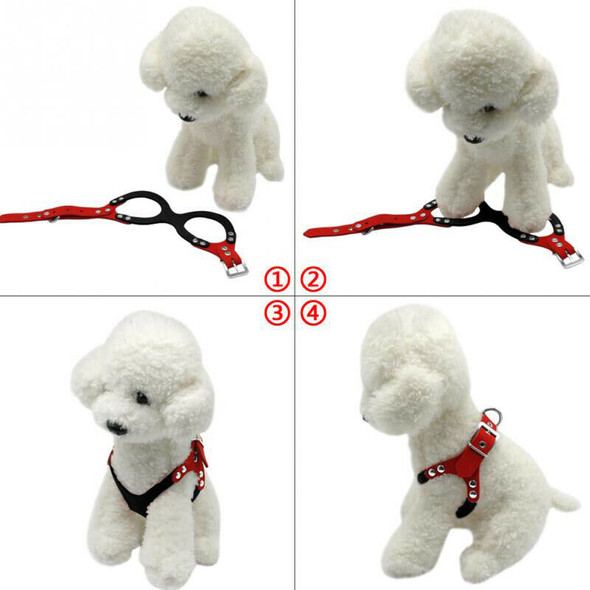 Soft Suede Leather Small Pet Dog Harness for Puppies Chihuahua Yorkie Teddy M9O6