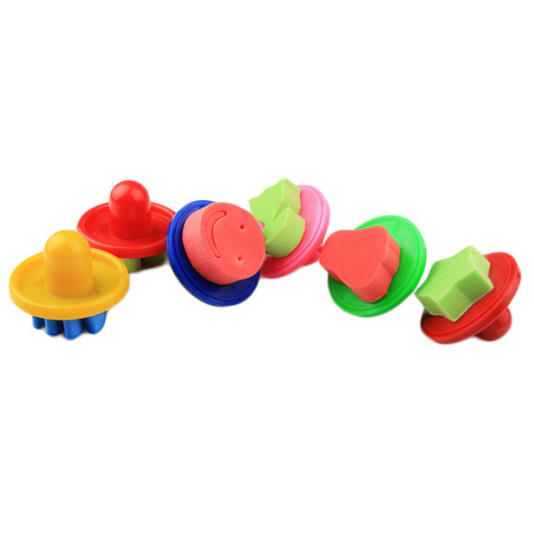 Kids Painting Ink Pad Stamp and Sponge Painting Shapes Art Crafts Supply