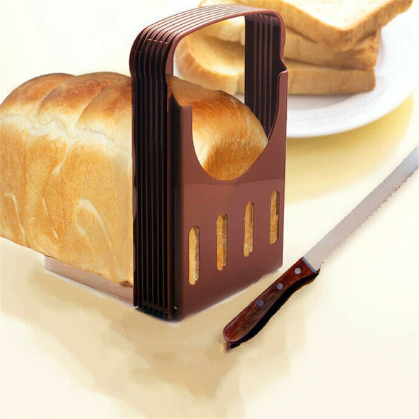 Practical Bread Cutter Loaf Toast Slicer Cutting Slicing Guide Kitchen Tool FT