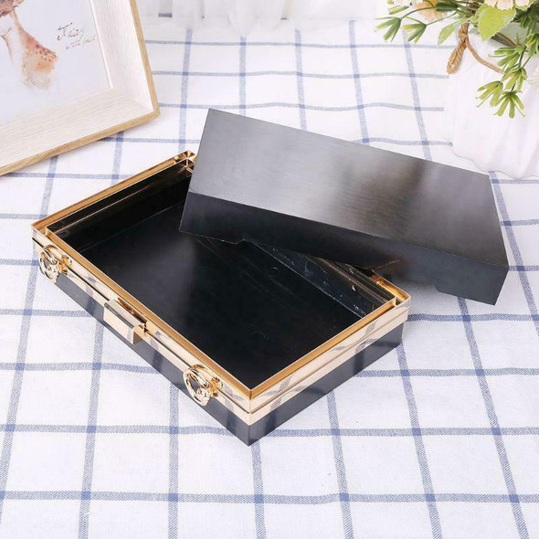 Rectangle Metal Frame Box Purses Handles for DIY Handbags Evening Clutch Bag