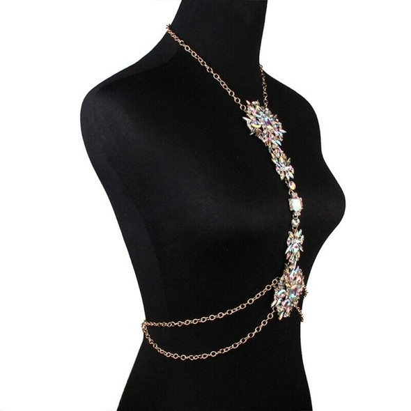 Simple Diamond Sexy Fashion Ladies Jewelry Exaggerated Flower Body Chain