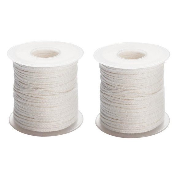 New Spool of Cotton Square Braid Candle Wicks Wick Core 61m KYA reqt 2 PCS
