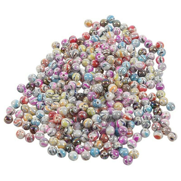 300PCs Mixed Acrylic Ball Spacer Beads 8mm( 3/8 inch) -Jewellery Making ,DI H1I2