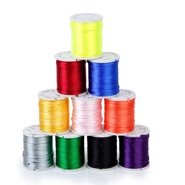 10 Rolls mixed cord in Nylon of colour beads chain of thread for the craft  Y9V3