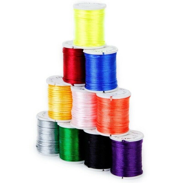 10 Rolls mixed cord in Nylon of colour beads chain of thread for the craft  B5O2