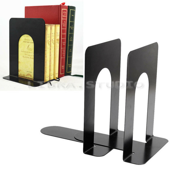 Bookend Form L Metal Bookends Bookshelf Support-School Office Books Hot