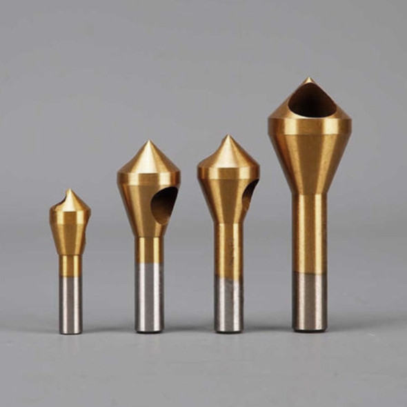 Plastic Titanium Coated HSS Countersink Deburring Drill Bit For Metal Steel