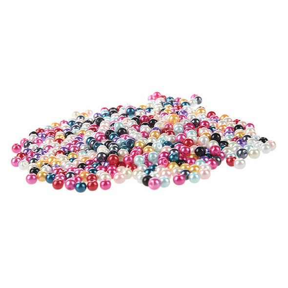 500X 6mm ball glass beads loose jewelry parts colorful E1F2