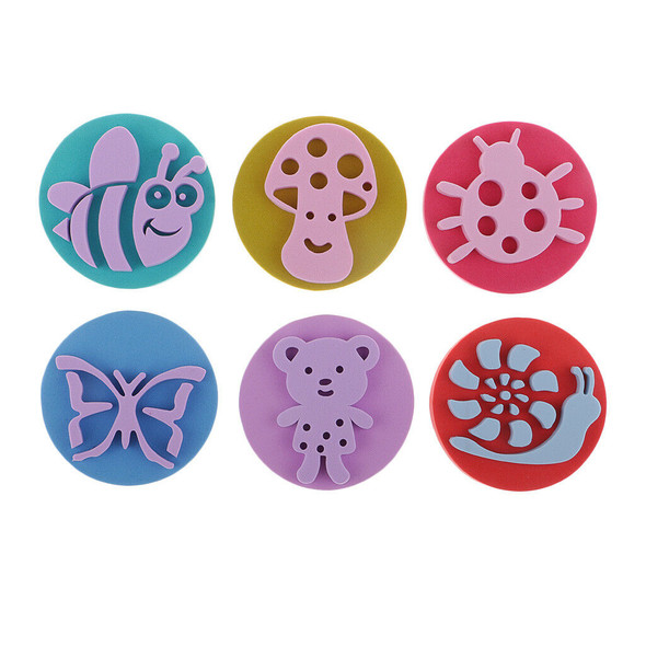 Kids Painting Ink Pad Stamp and Foam Painting Shapes Art Crafts Supply