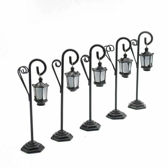 5 PCS Streetlight Shape Wedding Party Reception Place Card Holder Number Na H7F6