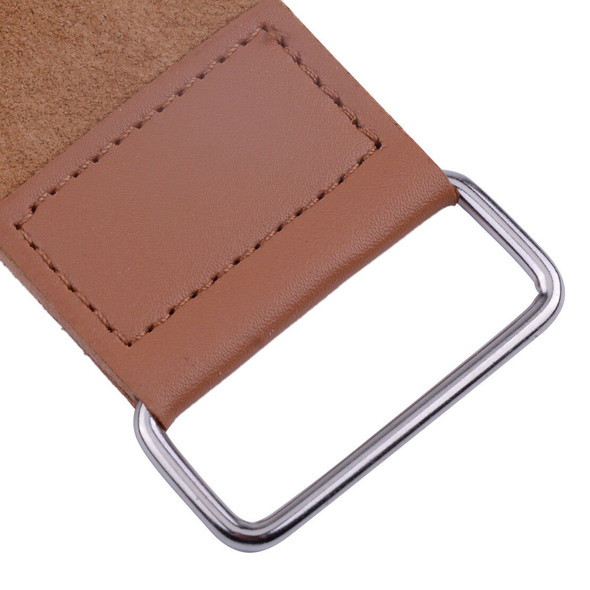 Pro Barber Shaving Cow Leather Strap Straight Razor Strop Sharpening Strop Brown