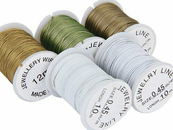 J10 rolls Mixed Color Cord Steel Beading Wire String 0.45 mm Thread DIY Jew S5Y8