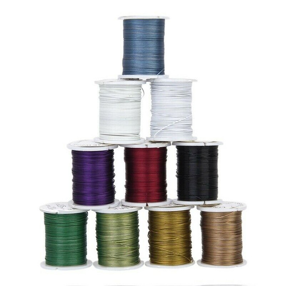 J10 rolls Mixed Color Cord Steel Beading Wire String 0.45 mm Thread DIY Jew R2L6