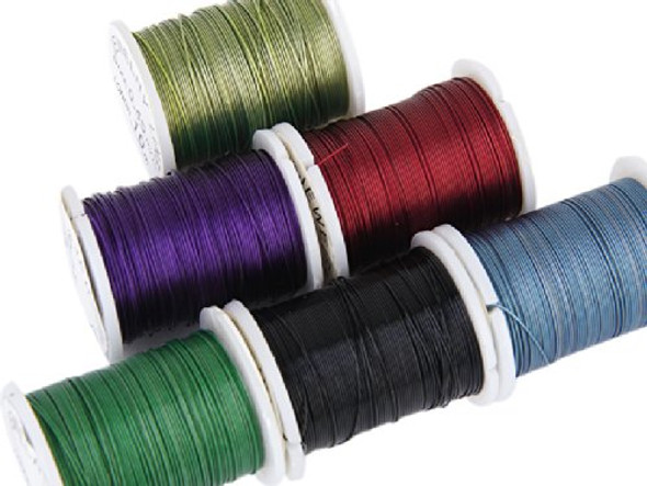J10 rolls Mixed Color Cord Steel Beading Wire String 0.45 mm Thread DIY Jew L2D6