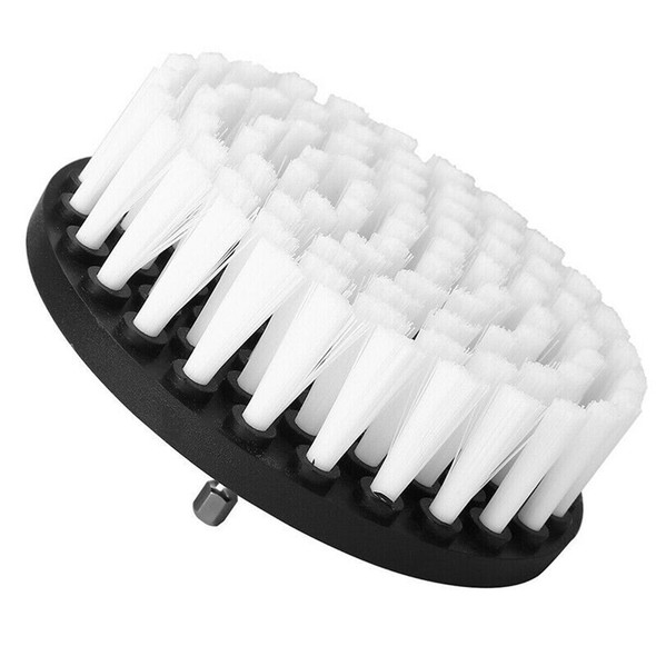 2Pcs White Soft Drill Brush Attachment for Cleaning Carpet Leather White Brush