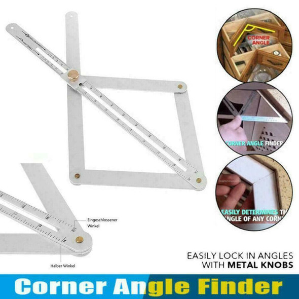 Stainless Steel Corner Angle Finder Ceiling Artifact New Protractor Tool Sq P3O2