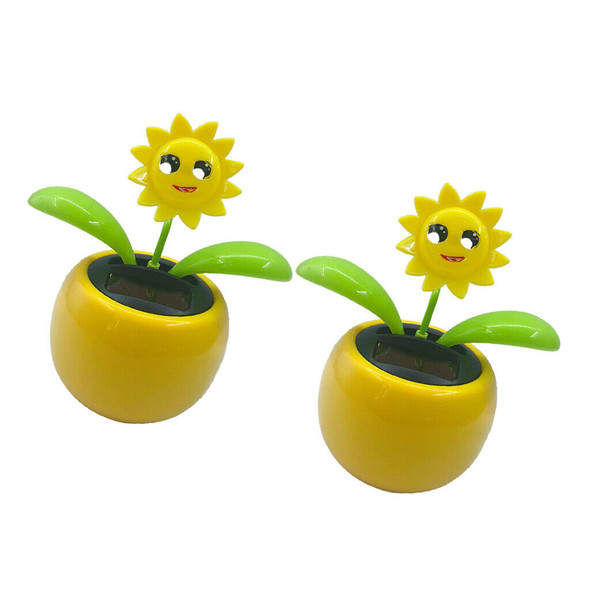 2x Solar Power Dancing Flower  Flower Home Car Decor Gift NEW
