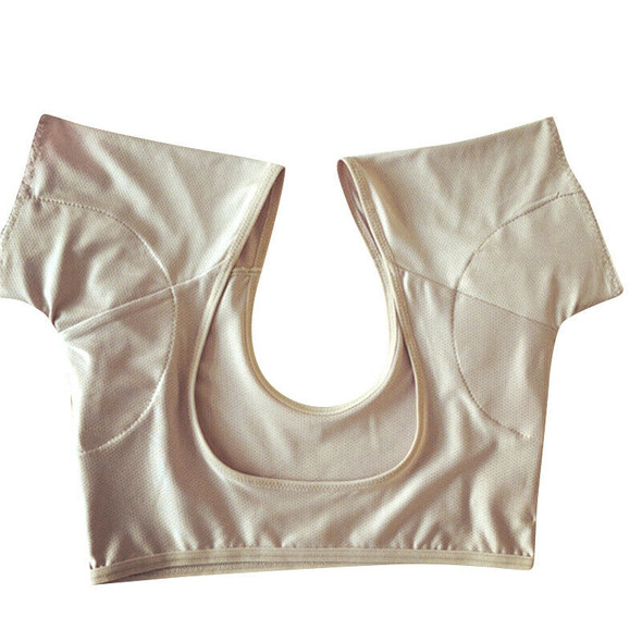 Skin Color Underarm Sweat-Absorbent Pad T-Shirt Can Be Washed And Reused Un V9W4